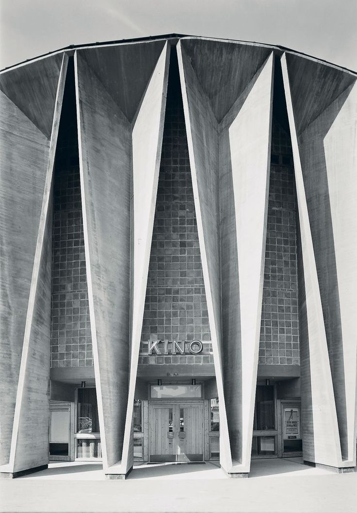 "germanpostwarmodern: "" Cinema (ca. 1966) in Kongsberg, Norway, by Ørnulf Ljøterud & Erik Ødegård """