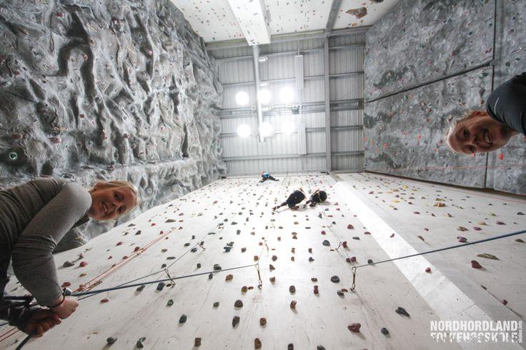 Nordhordland Folkehøgskole, klatring