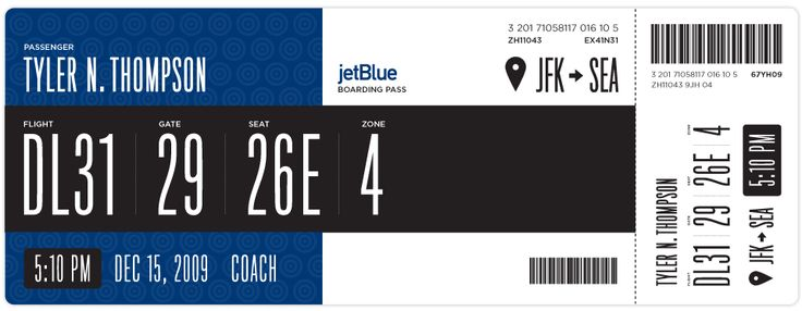 Redesigning the Boarding Pass - Journal - Boarding Pass / Fail