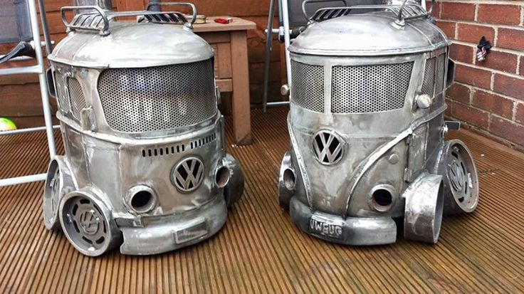 volkswagen vw bus wood burning stoves from creation fabrication! | If I didn't live in South Florida with absolutely no need for this, I would have one of these for my garage. |  #vwbus pinned by www.wfpblogs.com