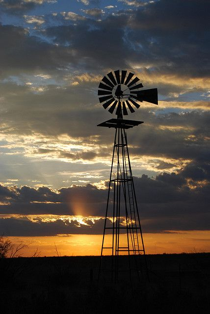 West Texas Windmill - Between Seminole and Andrews, Texas