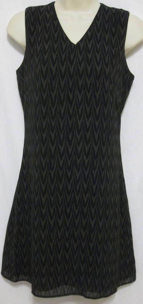 Banana Republic Womens Shift Little Black Dress 0 Animal Print Sleeveless Office #BananaRepublic #Shift #WeartoWork