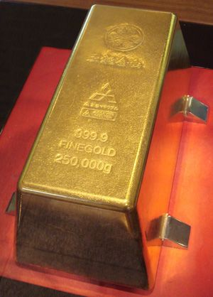 250kg Gold Brick One Of The Biggest Gold Bars In The