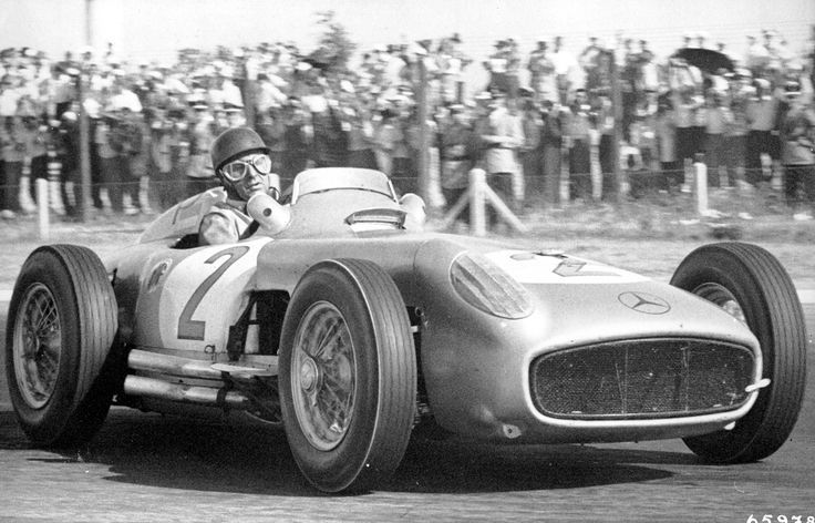 This is just about the best picture of Juan Manuel Fangio Ive seen, interestingly, Fangio still holds the highest winning percentage in Formula 1...