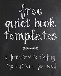 The Quiet Book Blog: Quiet Book Pattern Directory I Linksammlung zu tollen Büchern zum Selbsmachen
