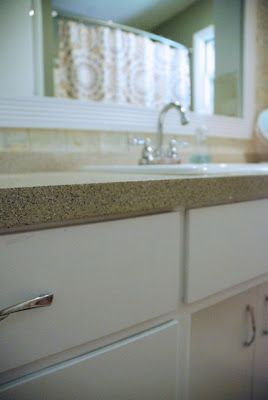 Bright Green Door Blog: How to Spray Paint Countertops | Interesting idea to spray paint a countertop.