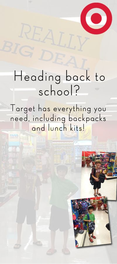 Target Backpacks and Lunch Kits