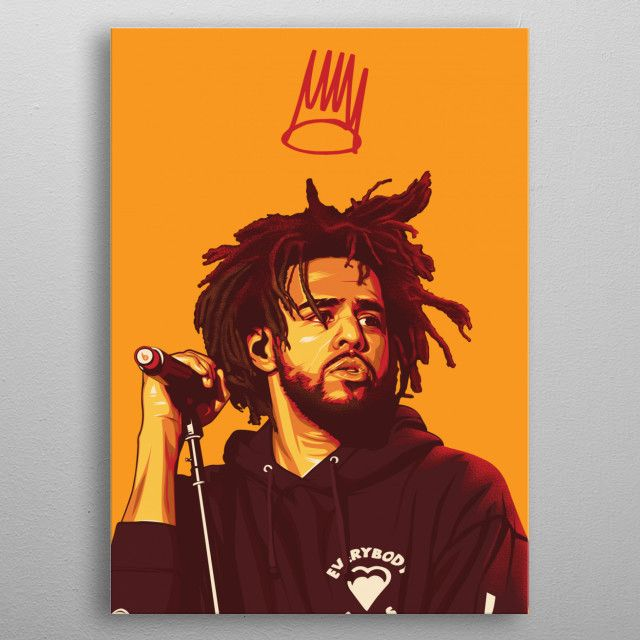 j cole poster poster by art by
