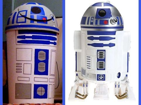DIY - R2-D2 trashcan tutorial . LOL- If someone makes this I would love to see…