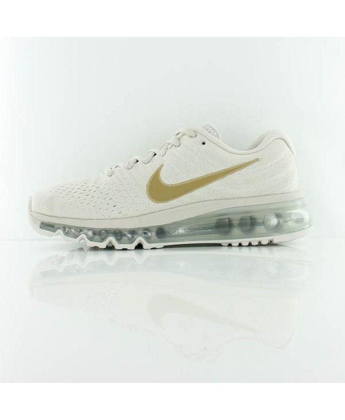 huge discount 19a54 ec942 Nike Air Max 2017 Junior Light Bone Metallic Gold Shoes,Valentine's Day boys  girls favorite.