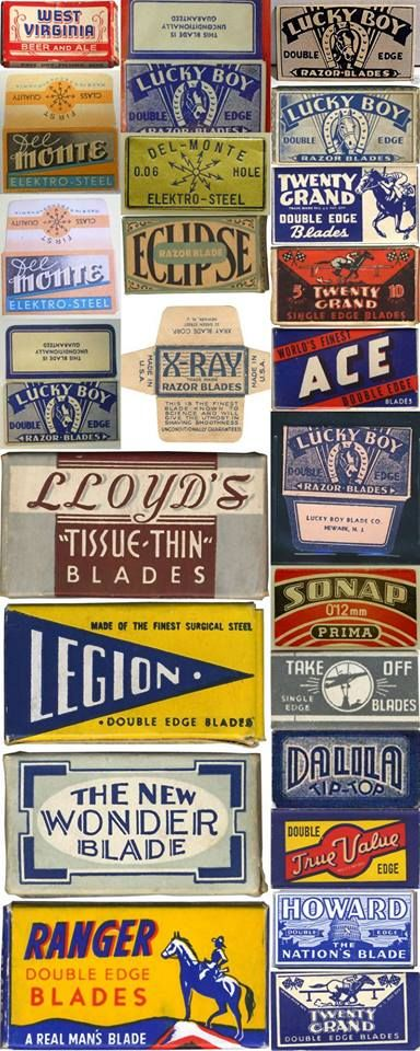 Vintage razor blade collection, great packaging.