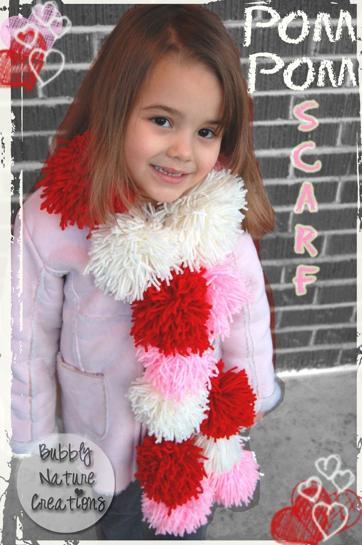 Pom Pom Scarf or Garland.. very easy to make... would be great for a photo prop too!