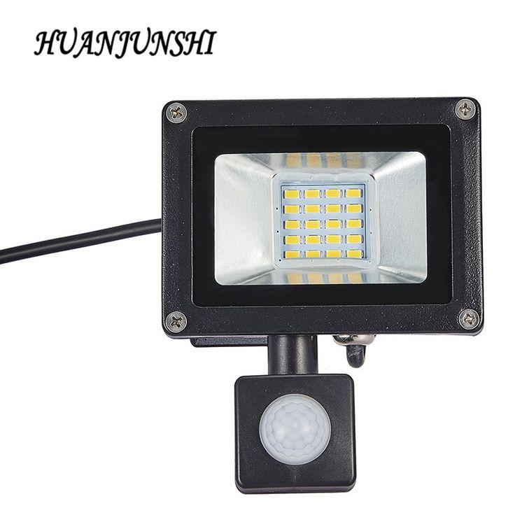 10 W 20 W Refletor LED Reflector de la Luz de Inundación Con Sensor de Movimiento Pir 220 v Impermeable Del Reflector Al Aire Libre de Iluminación de Fábrica precio