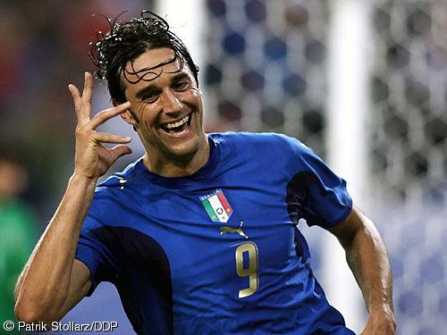 ~ Luca Toni on the Italian National Team with his iconic goal celebration ~