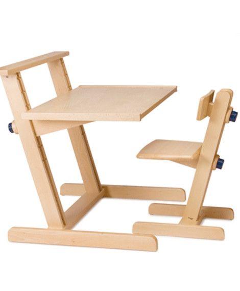birou reglabil din lemn vector 2