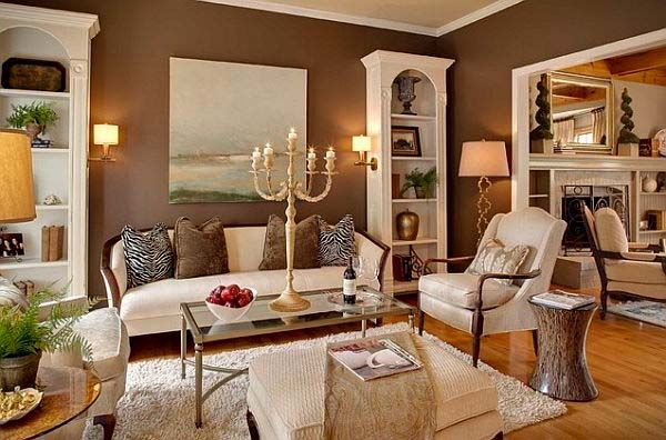 107 best new house color scheme images on pinterest for Cream and brown living room designs