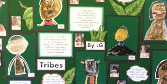 Jungle and Rainforest, Tribes, Rainforest, Brazil, Amazon, Display, Classroom display, Early Years (EYFS), KS1 & KS2 Primary Teaching Resources