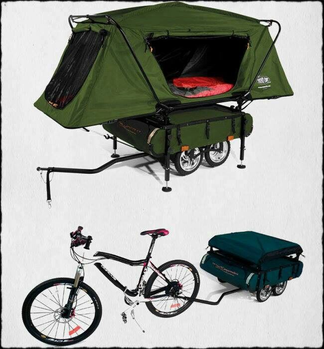 Bicycle Camper - Haul on the back of your MTB, and your set!