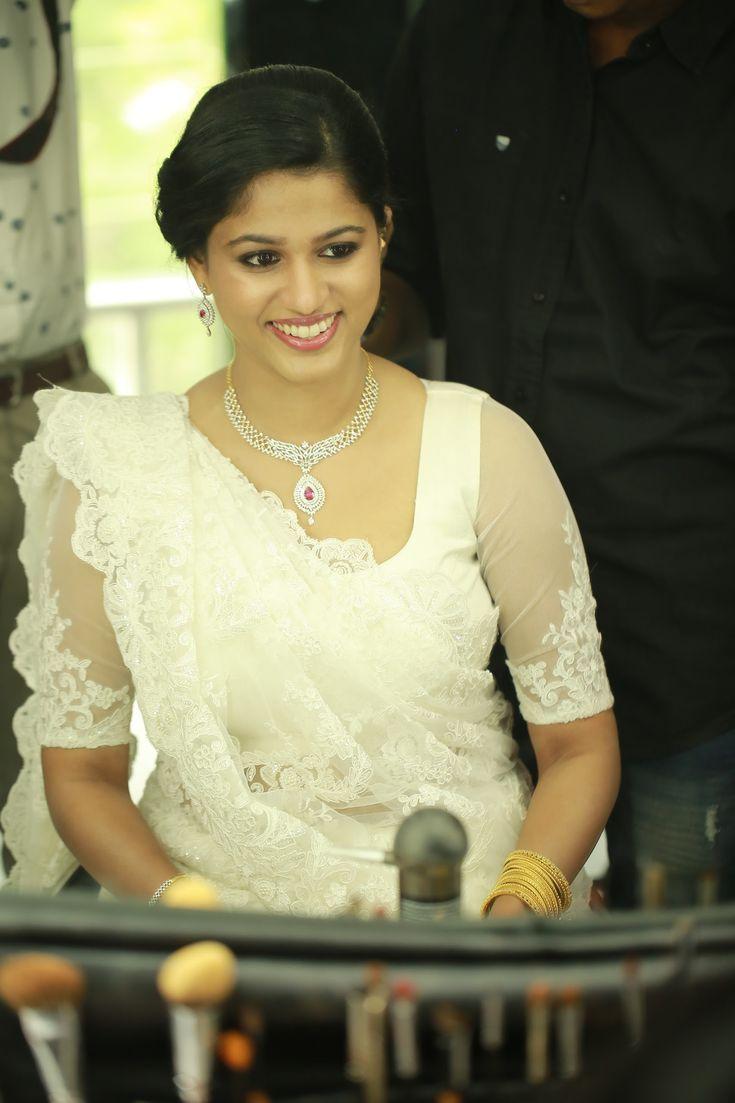 Christian wedding ...white saree.. althea bridals and bespoke