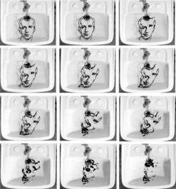 Narcisso, Oscar Muñoz, Serie de 12 fotografías sobre papel