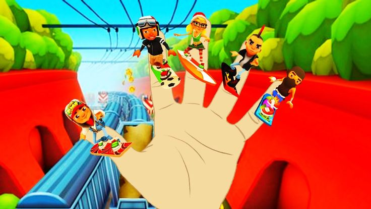 SUBWAY SURFERS Finger Family Nursery Rhymes