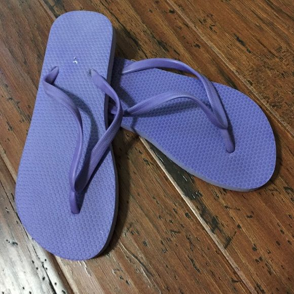 Purple blue flip flops These purpley blue flip flops have been worn maybe twice so still in good condition Old Navy Shoes Sandals
