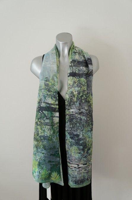 Groene sjaal bostafereel