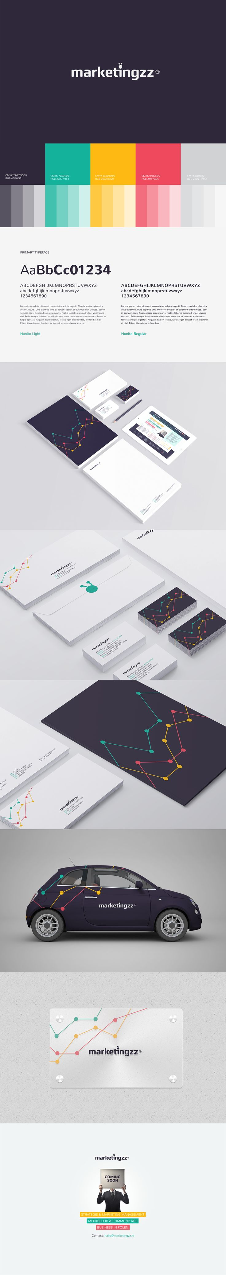 Branding for a company  I liked the colors used and how it seems to be playful.