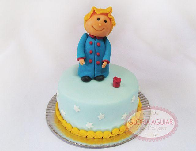 Mini bolo Pequeno Príncipe, modelagem, menino,