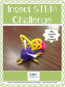 This STEM insect challenge asks students to create an insect using their knowledge of the parts of an insect.  It includes:- 4 day lesson plan- List of suggested materials- Stem norms poster- Stem process poster- Design template- Insect test for students to see if their design was successful- Follow up number story activityYou may also like:Fix It Up Sentences  Editing Practice for Kinders Alphabet Sight Word ReadersCVC Puzzles  31 in All