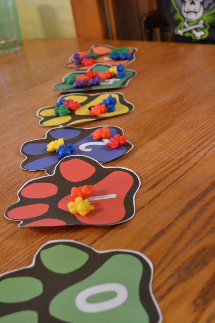 Counting with bear paws