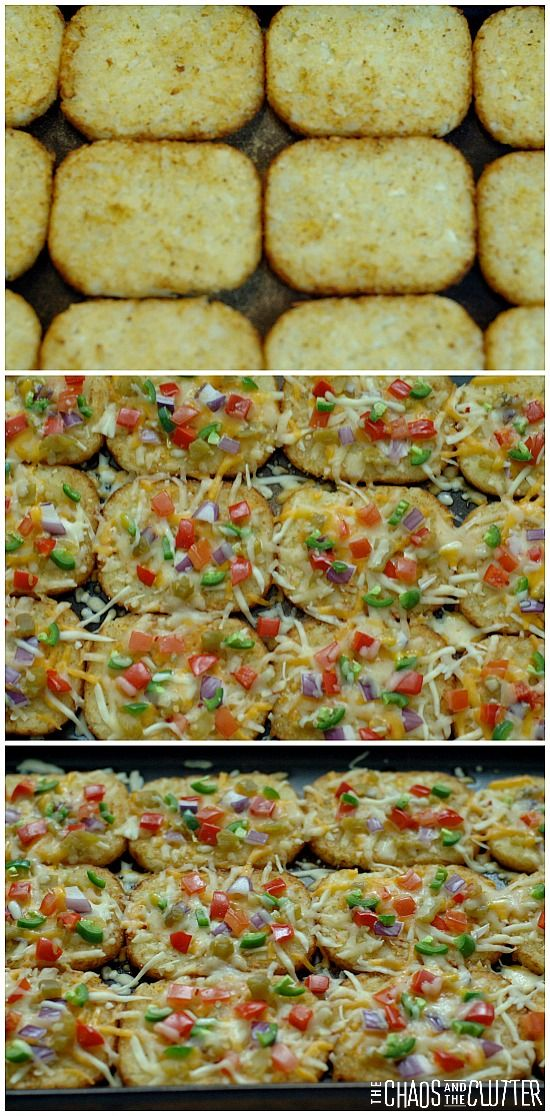 Hash Brown Breakfast Nachos. gluten free and so many topping possibilities
