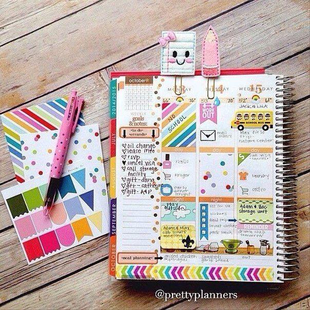красивые идеи для ежедневника