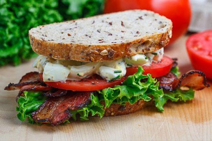 bacon, egg, lettuce, tomato sandwich | food! | Pinterest