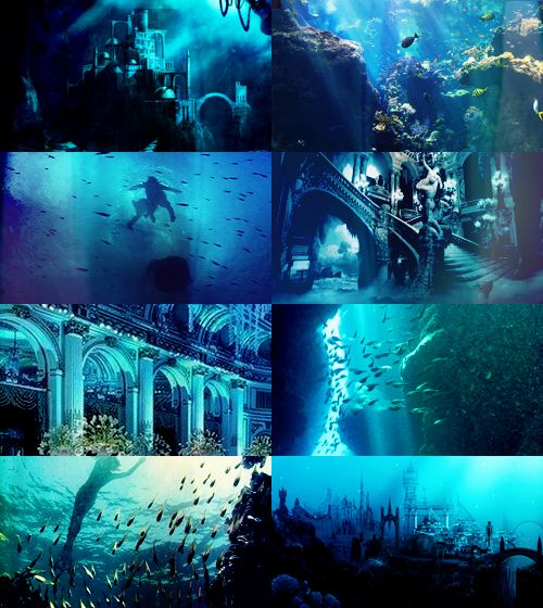 FAIRY TALE MEME [3/3] Locations / Kingdoms - the Castle under the sea in The Little Mermaid, based on the tale by Hans Christ...