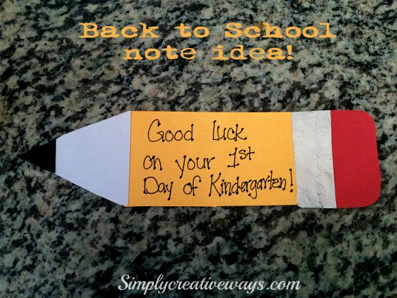Back to School Pencil Card