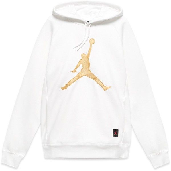 JORDAN X OVO PO FLEECE HOODIE WHITE ($150) ❤ liked on Polyvore featuring tops, hoodies, sweater pullover, fleece pullover hoodie, white hoodies, fleece hoodies and white hoodie