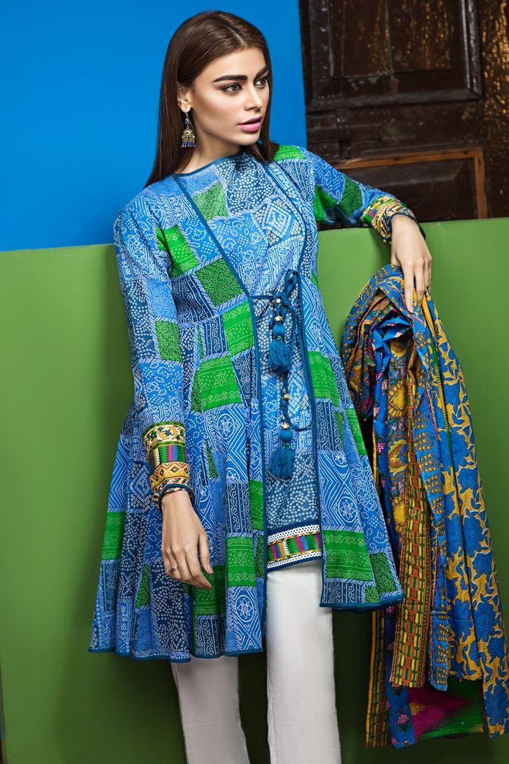 Khaadi –  L17107-B-BLUE - Lawn 2017 Vol 1 - Unstitched