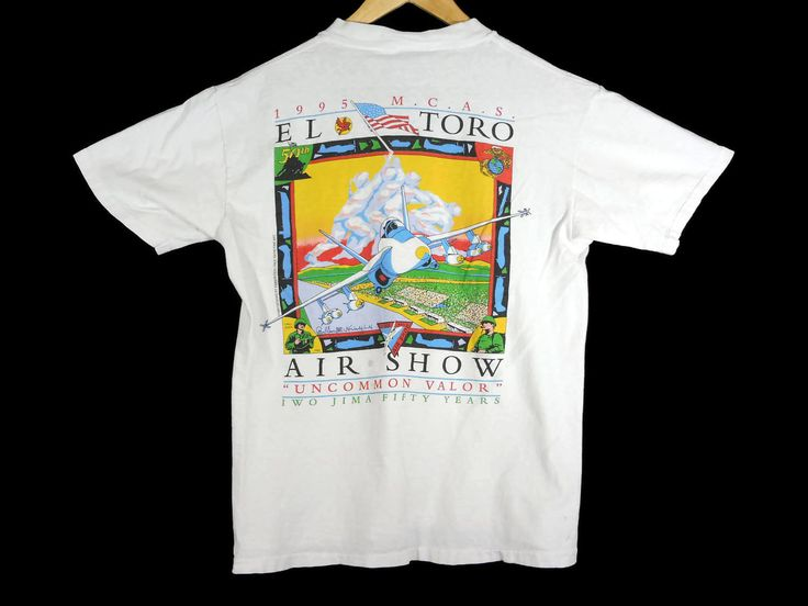 Vintage 1995 M.C.A.S. El Toro Air Show T-Shirt - Small - 90s Clothing -  Vintage Tee - Vintage Clothing - Military - Militaria - Airplanes - by BLACKMAGIKA on Etsy