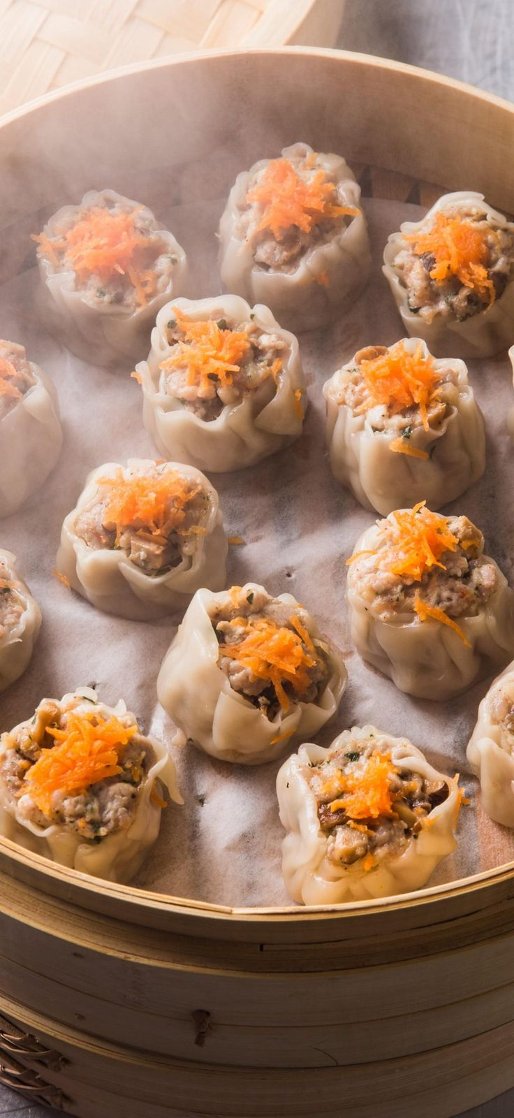 Steamed Chinese Dumplings (Shu Mai). For moist and tender meat in our shu mai recipe, we used our food processor to grind boneless country-style ribs in two batches: one chunky and one fine.