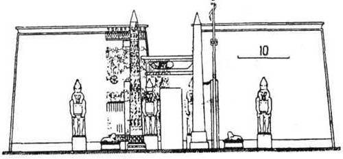 Храмы Древнего Египта. Передний двор и пилон
