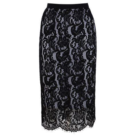 Buy Coast Lulla Lace Skirt, Black Online at johnlewis.com