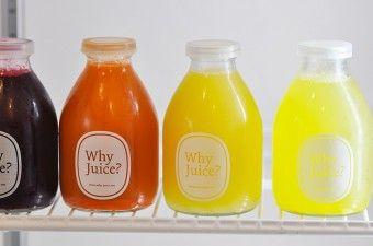 夏のフレッシュジュース1 コールドプレストジュースの ニューショップ「Why Juice?」