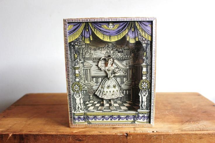 RARE Sand Automaton / Harlequins Magic Box / Le Boutique Fantastique / Columbine. $300.00, via Etsy.