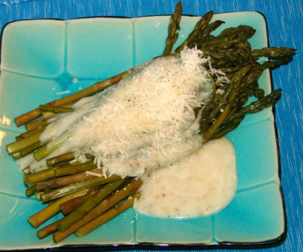 Asparagus With Creamy Dijon Sauce from Food.com: NOOO! NEVER boil that ...