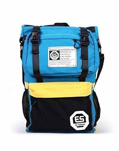 Oferta: 24.99€. Comprar Ofertas de Eshow Bolso Mochila de Tela de Lona para Mujer Bolso Escolar, Azul Claro barato. ¡Mira las ofertas!