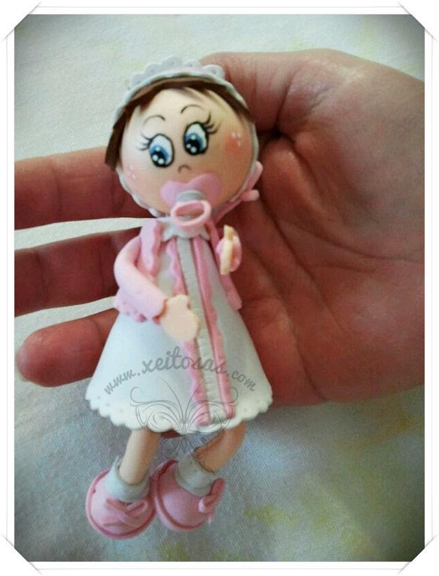 Fofucha beb para bautizo fofuchas xeitosas pinterest - Manualidades con bebes ...