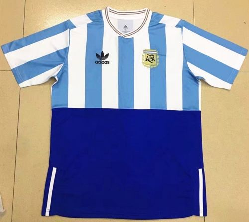 2018 World Cup Commemorative Edition Argentina Home Blue and White Thailand  Soccer Jersey AAA