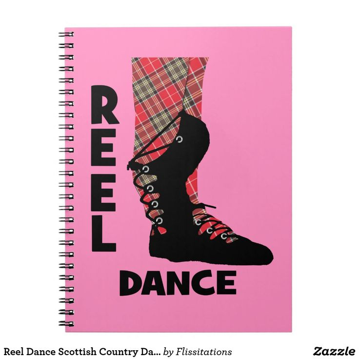 Reel Dance Scottish Country Dance Themed Notebook
