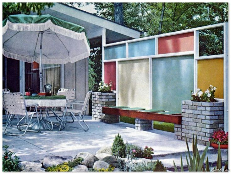 find this pin and more on mid century modern landscaping